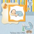 New baby boy shower card — Stock Photo #10391840