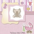 New baby girl shower card — Stock Photo #10392391