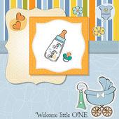 New baby boy shower card — Stock Photo
