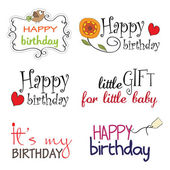 Happy Birthday vector Lettering Series — Stock Photo