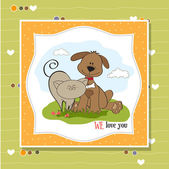 Dog & cat's friendship — Stock Photo