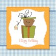 Stock Photo: Cute teddy bear in a gift box