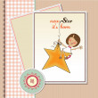 Stock Photo: New star it's born.welcome baby card