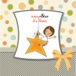 New star it's born.welcome baby card — Stockfoto