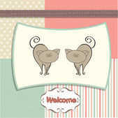 Greeting card with cats — Stock Photo