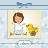 Cartão com menina — Foto Stock