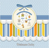 Welcome baby card — Stock Photo