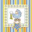 Stock Photo: Greeting card with baby boy