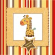 Shower card with giraffe toy - Foto Stock