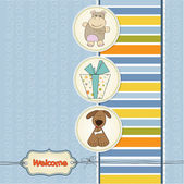 Welcome greeting card with animals — Stock Photo