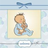 Baby boy shower card — Stock Photo