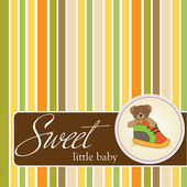 Sweet little baby. Greeting card. — Stock Photo