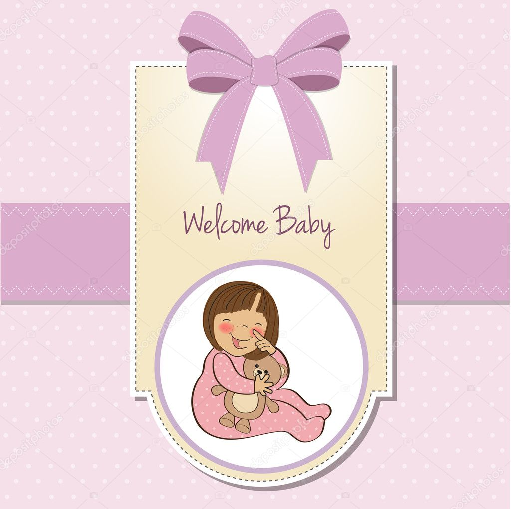 Welcome New Baby Girl Stock Photo C ClaudiaBalasoiu 8062765
