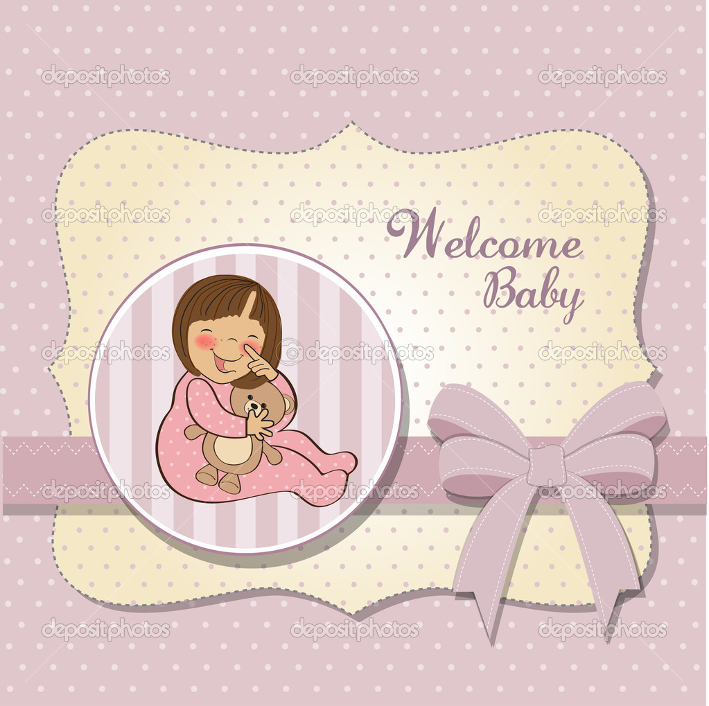 Welcome New Baby Girl Stock Photo C ClaudiaBalasoiu 8062775