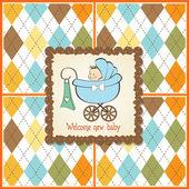 Wenskaart met babyjongen — Stockfoto