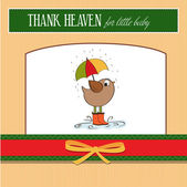 Greeting card with bird — Stock Photo