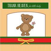 Greeting card with teddy bear — Foto de Stock
