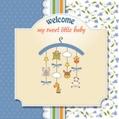 Welcome baby announcement card — Stock Photo