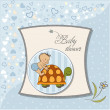 Funny baby shower card - Stock fotografie