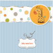 Baby shower card with giraffe toy — Stock Photo #9044019