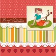 Young pretty girl with cupid bow. valentine's day card — Stock Photo