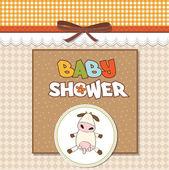Delicate girl shower card — Stock Photo