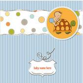 Dziecko chłopca prysznic karty z małym dzieckiem — Zdjęcie stockowe
