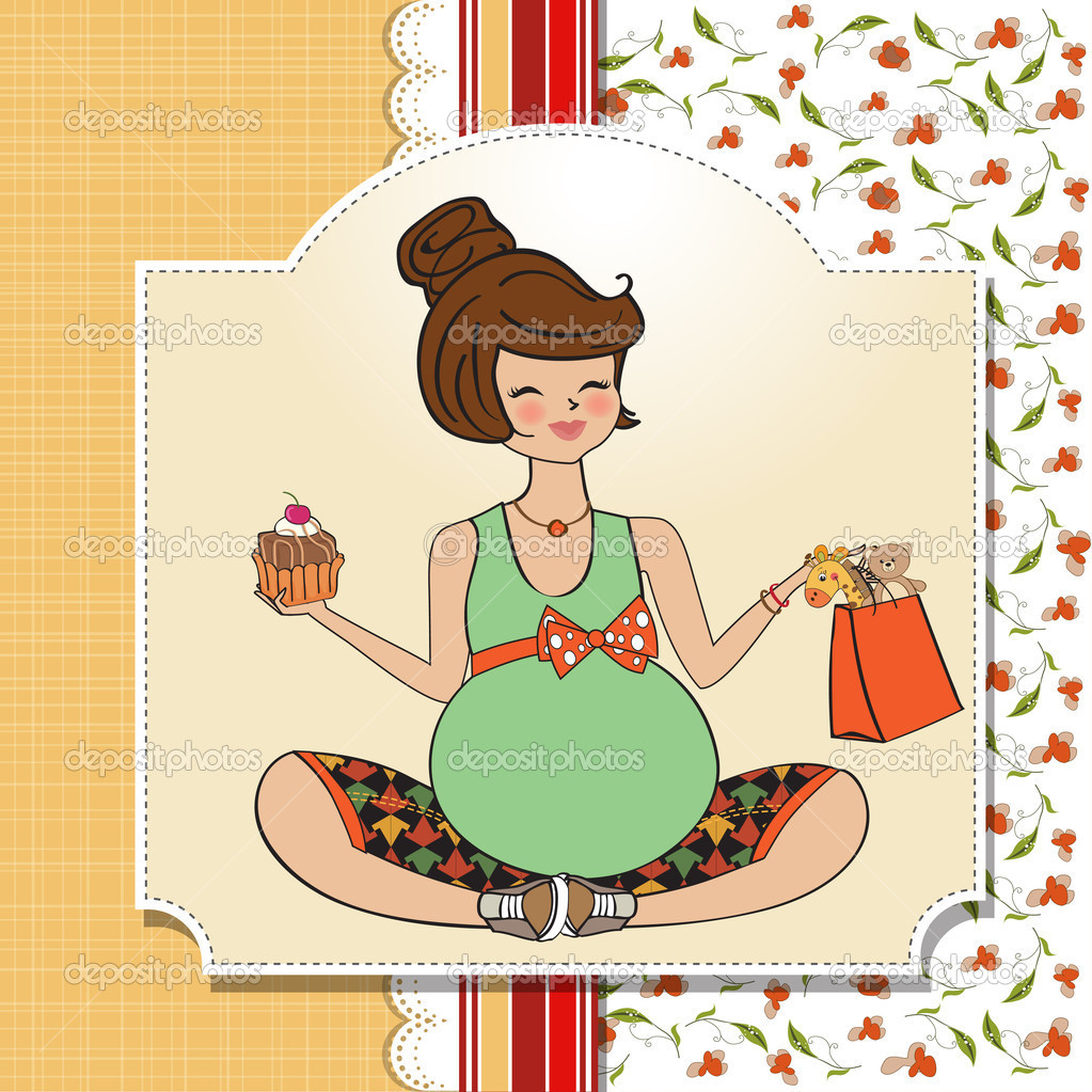Прикольное поздравление с днем рождения беременной женщине