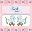 Baby twins shower card — Stock Photo #9222310