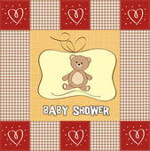 Romantic baby shower card — Stock Photo