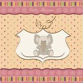 Romantic baby girl announcement card — Stock Photo