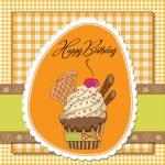 Birthday cupcake — Stock Photo #9236058