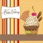 Birthday cupcake — Stock Photo #9236117