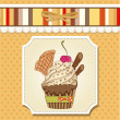 Birthday cupcake — Stock Photo #9236160