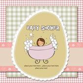 Tarjeta romántica bebé ducha — Foto de Stock