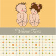 Baby twins template shower card — Stock Photo #9455759
