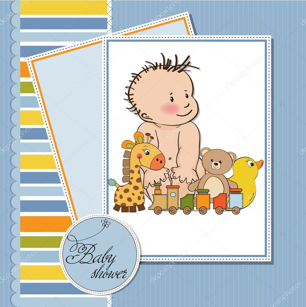 New baby boy template shower card stock photo for Baby shower place cards template