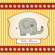 Baby shower card with elephant - Stock Photo