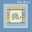 Baby shower card with elephant — Stock Photo