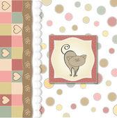 Baby shower card with cat — Zdjęcie stockowe
