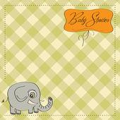 Romantic baby announcement card — Stock Photo