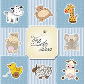 Baby shower card template.vector illustration — Stok fotoğraf