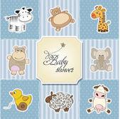 Bebek duş kart template.vector illüstrasyon — Stok fotoğraf