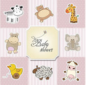 Baby shower card template.vector illustration — Stock Photo