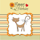 Greeting card with cat — Stock Photo