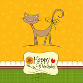 Greeting card with cat — Zdjęcie stockowe