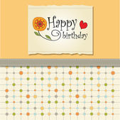 Greeting card template design — Stock Photo
