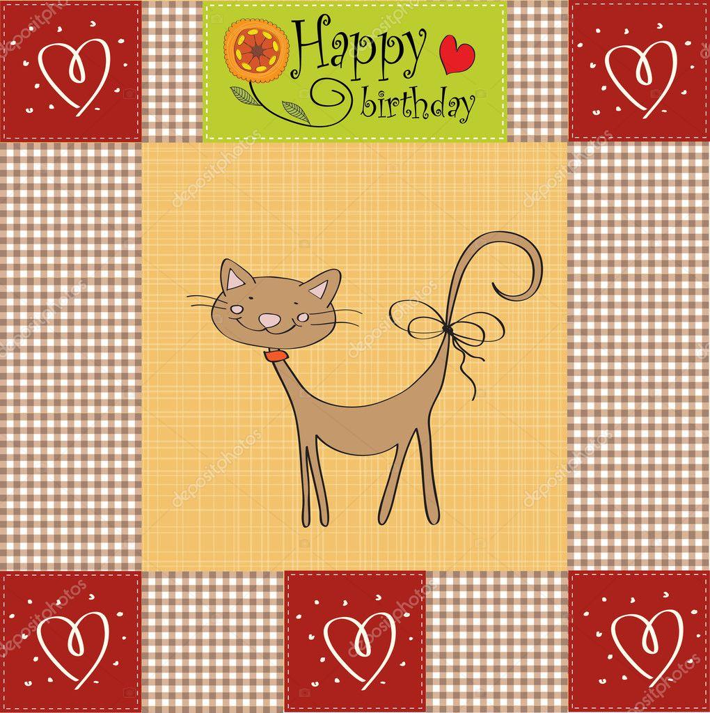 Распечатать открытку с котенком