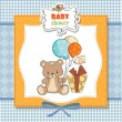 Baby shoher card with cute teddy bear — Stock Photo #9768555