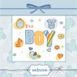 Baby boy shower card — Foto Stock